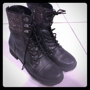 Never worn studded combat boots